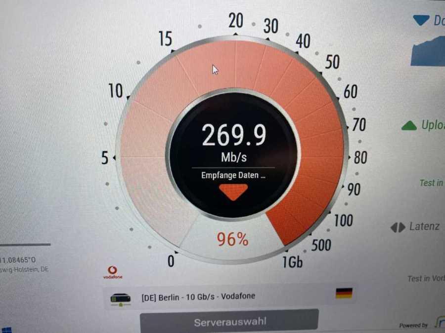 Schnelles Internet Dank Glasfaseranschluss